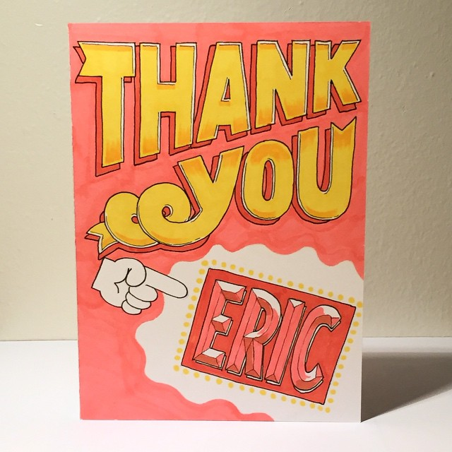 Thank You Card for Eric