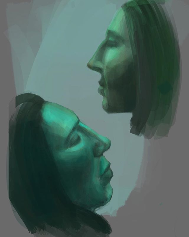 Light study: Bus commuters. The sleeper didn't move around as much. . . . . . #art #artist #digital #digitalart #sketch #procreate #instaart #instaartist #artistsoninstagram #artoninstagram #art_spotlight #arte #light #study #color #bus #faces #inspiration