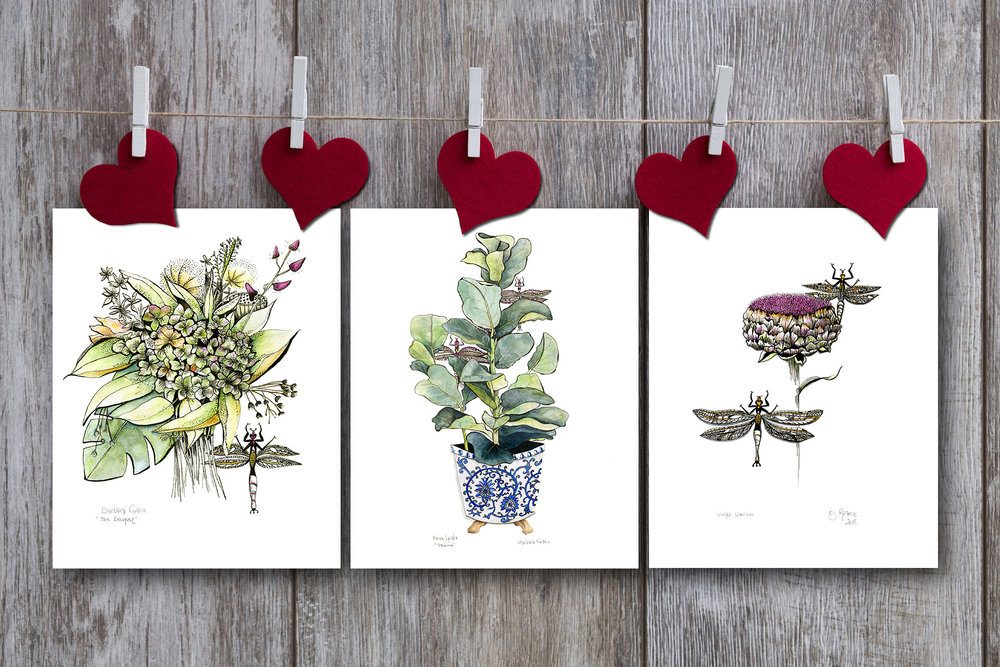 give a gift she'll treasure with these 8 x 10 inch archival botanical prints  these prints are printed and packaged in the USA/canada