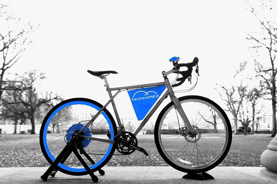 The alpha prototype of Terrainer, the first outdoor bicycle resistance trainer on the market.
