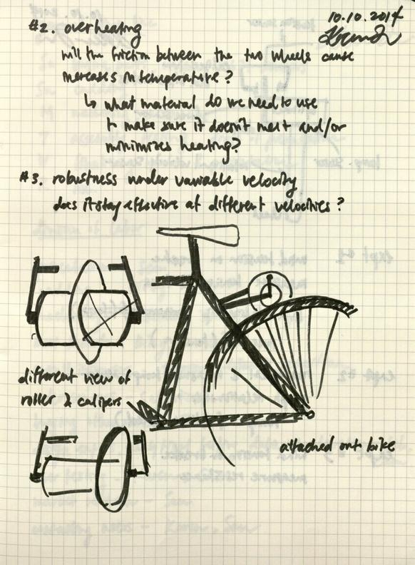 A sketch of an idea for the mockup model from my lab notebook, with notes on technical challenges.