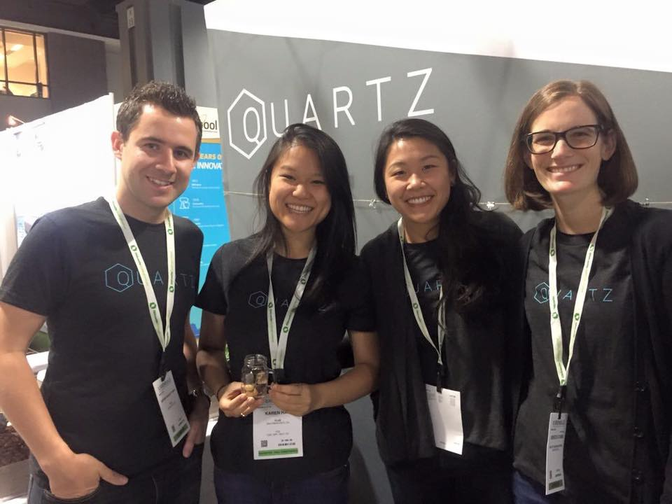 Quartz team members staff our exhibit at the 2015 Greenbuild Conference in DC.