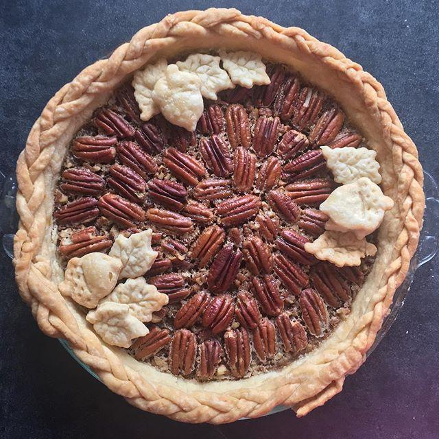 Done my job for tomorrow. #pietime  #pie #pecanpie  #thanksgiving