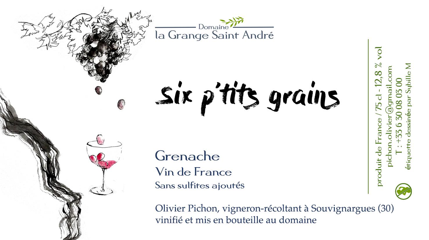 2018 Vdf Six Ptits Grains Wines Under The Bonnet