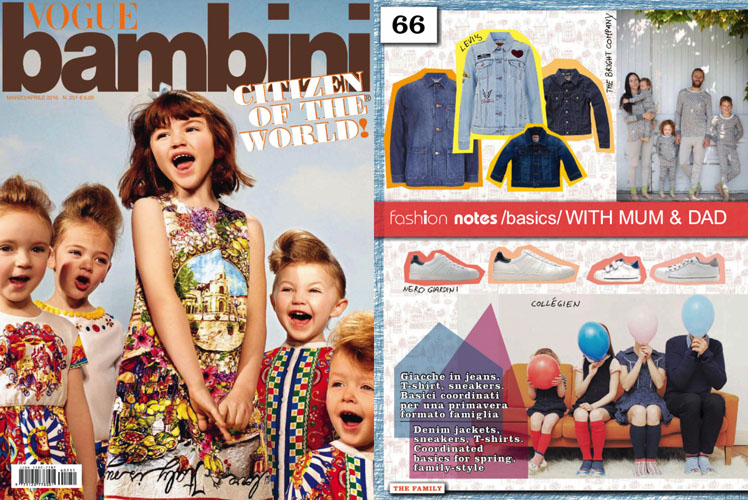 Vogue Bambini - March April 2016 issue - The Bright Company family pyjamas feature on Fashion Notes page.jpg
