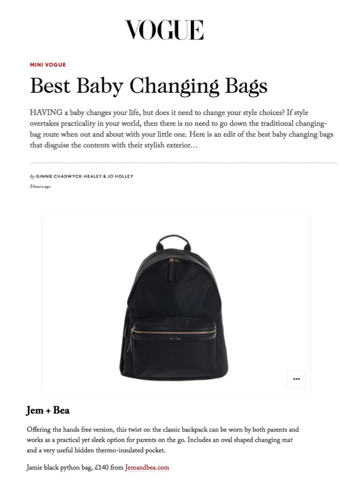 Vogue.co.uk - 16th May 2017 - Jem + Bea features in post on best baby changing bags (16 in total) (1).jpg