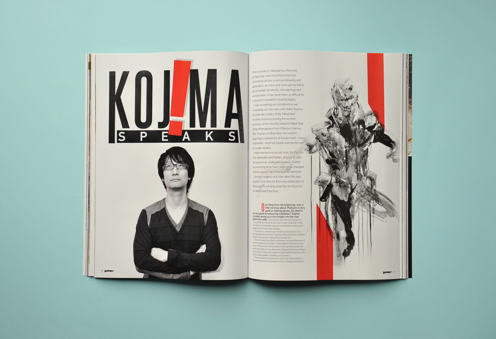 Hideo Kojima featured in GamesTM Magazine