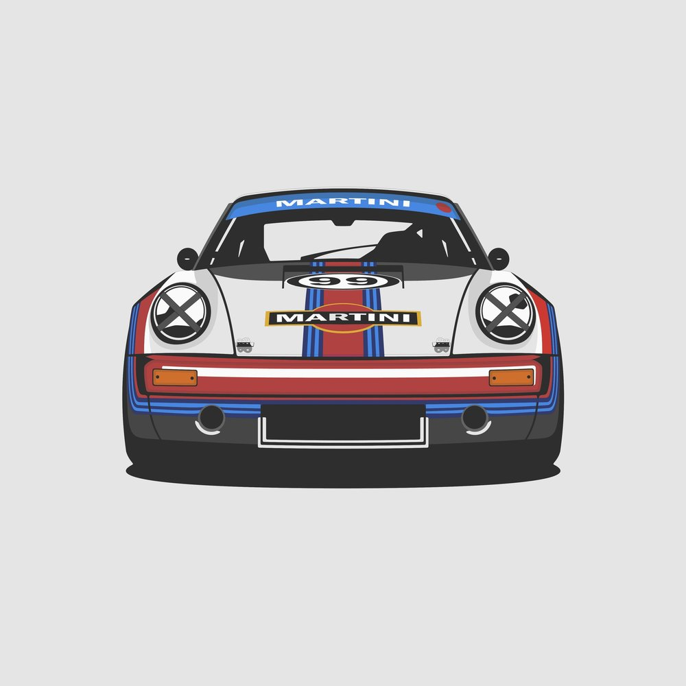 New Porsche 911 RS Martini Print Available at shop!