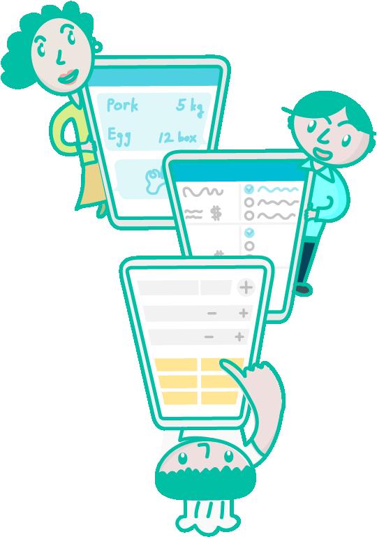 #創建一個餐廳帳號 📱 (通常是老闆👱🏻或主廚或管理者)  #將餐廳ID 📲 分享給同事🙋🏻♂️🙋🏻💁🏽♂️💁加入到餐廳團隊