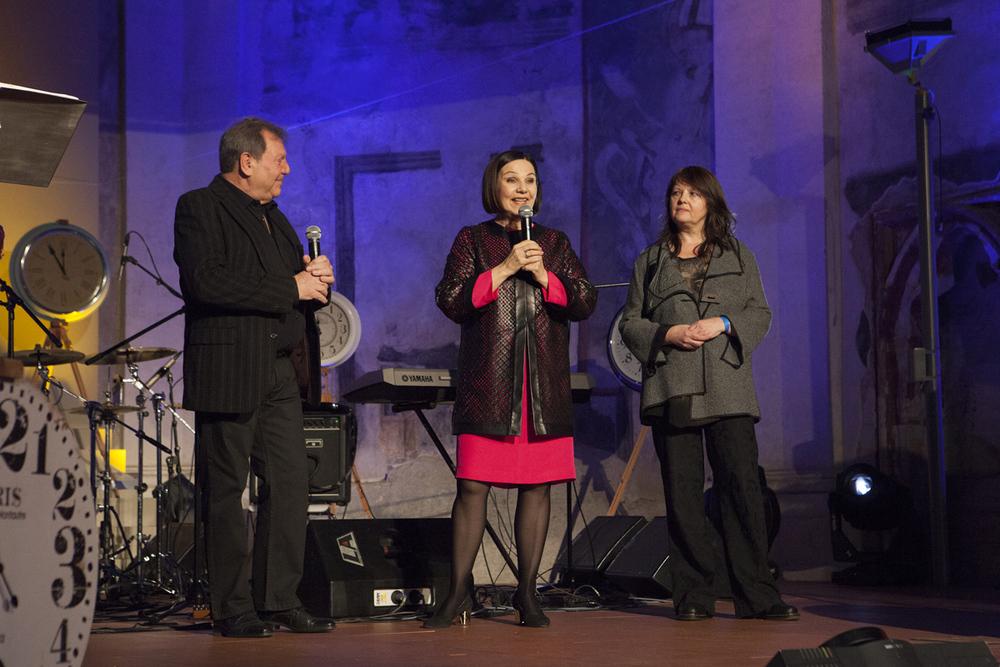 Antonín Gondolán s Lubomírou Slušnou-Franz a Andreou Šenkyříkovou