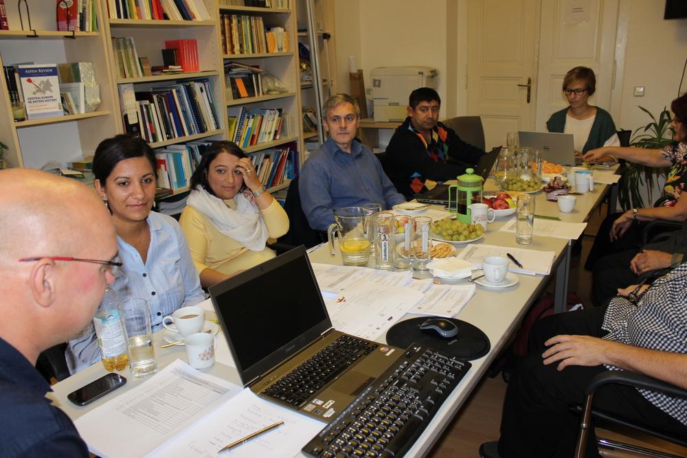 Nominační porota 2015 (zleva: Pavel Štern, Lucie Fuková Horváthová, Margita Wagner, Radek Jiránek, Jan Balog, Bohdana Rambousková