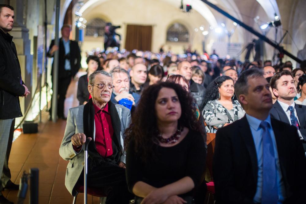 Mezi hosty byl Petr Uhl, novinářa politik, Jarmila Balážová, tisková mluvčí ministra Jiřího Dienstbiera, který sedí vedle ní, vpravo ve druhé řaděJ.E. p. Sten SCHWEDE (velvyslanec Estonska)  Foto: Dorota Špinková