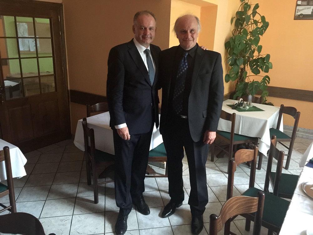 S prezidentem Kiskou ve Sliači, 27.6.2016