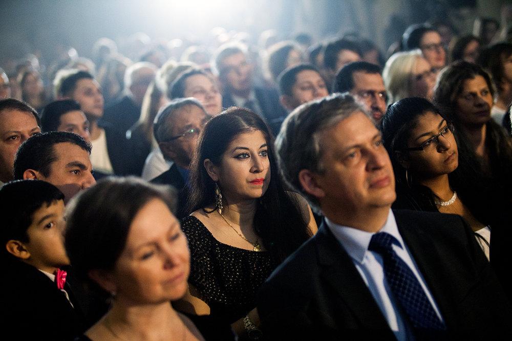 Večera se zúčastnil i exministr pro lidská práva  a senátor Jiří Dienstbier.