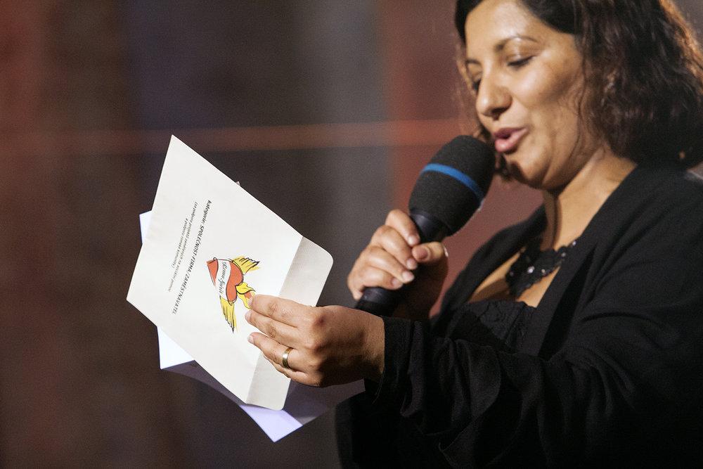 Lucie Fuková Horváthová, členka hlavní poroty, vyhlásila oceněné v kategorii Společnost/Firma/Zaměstnavatel.
