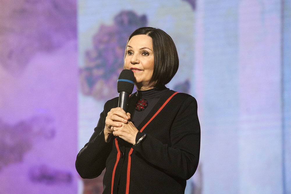Paní Ĺubomíra Slušná Franz, předsedkyně hlavní poroty a autorka myšlenky Roma Spirit.