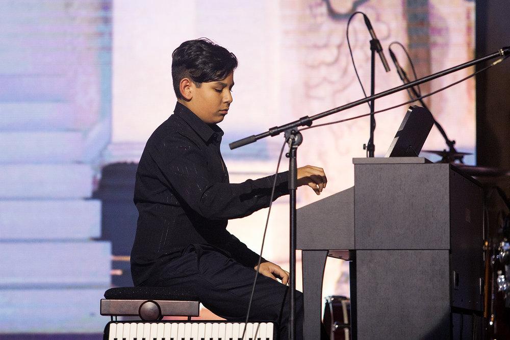 Talentovaný dvanáctiletý Radek Bagár zahrál Uherskou rapsodii Nr. 11 od Ferenze Liszta.