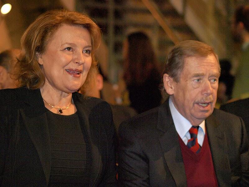 Magdaléna Vášáryová a Václav Havel.