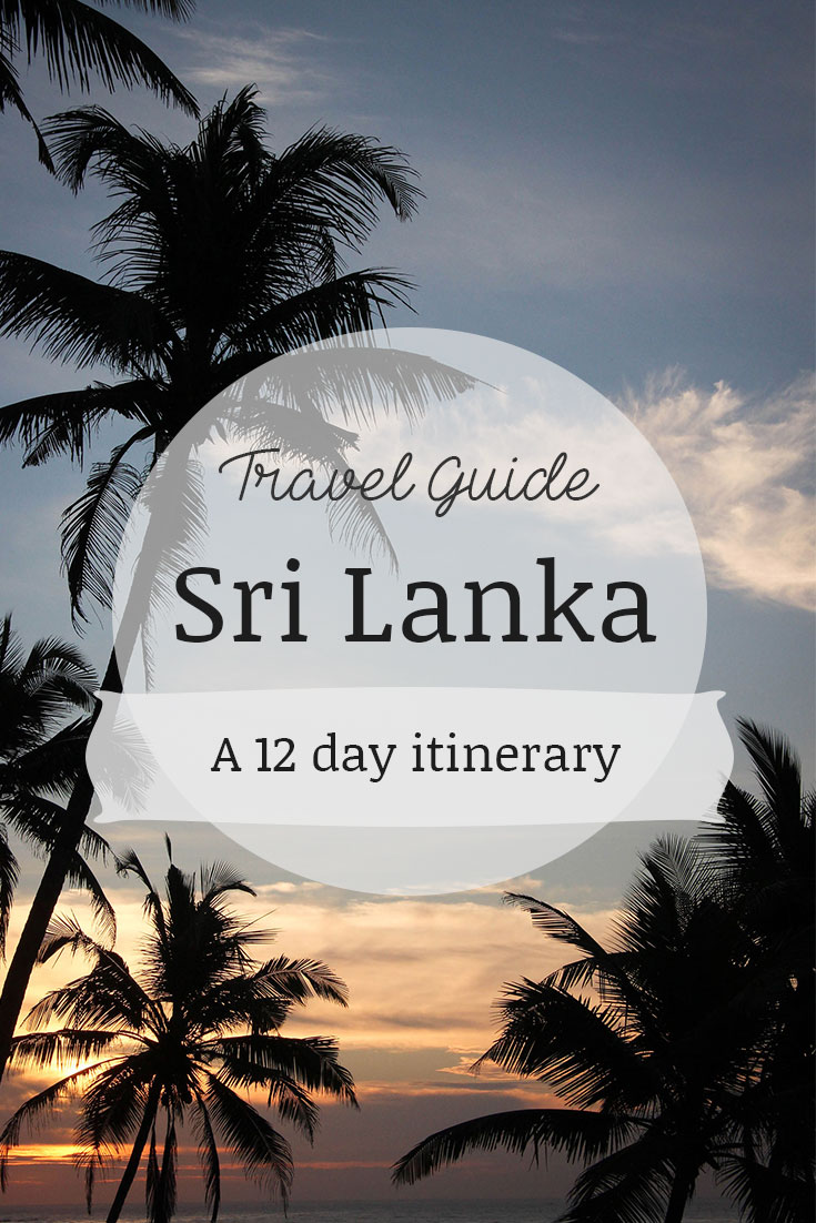Sri Lankan Travel Guide- 12 night-14 day itinerary