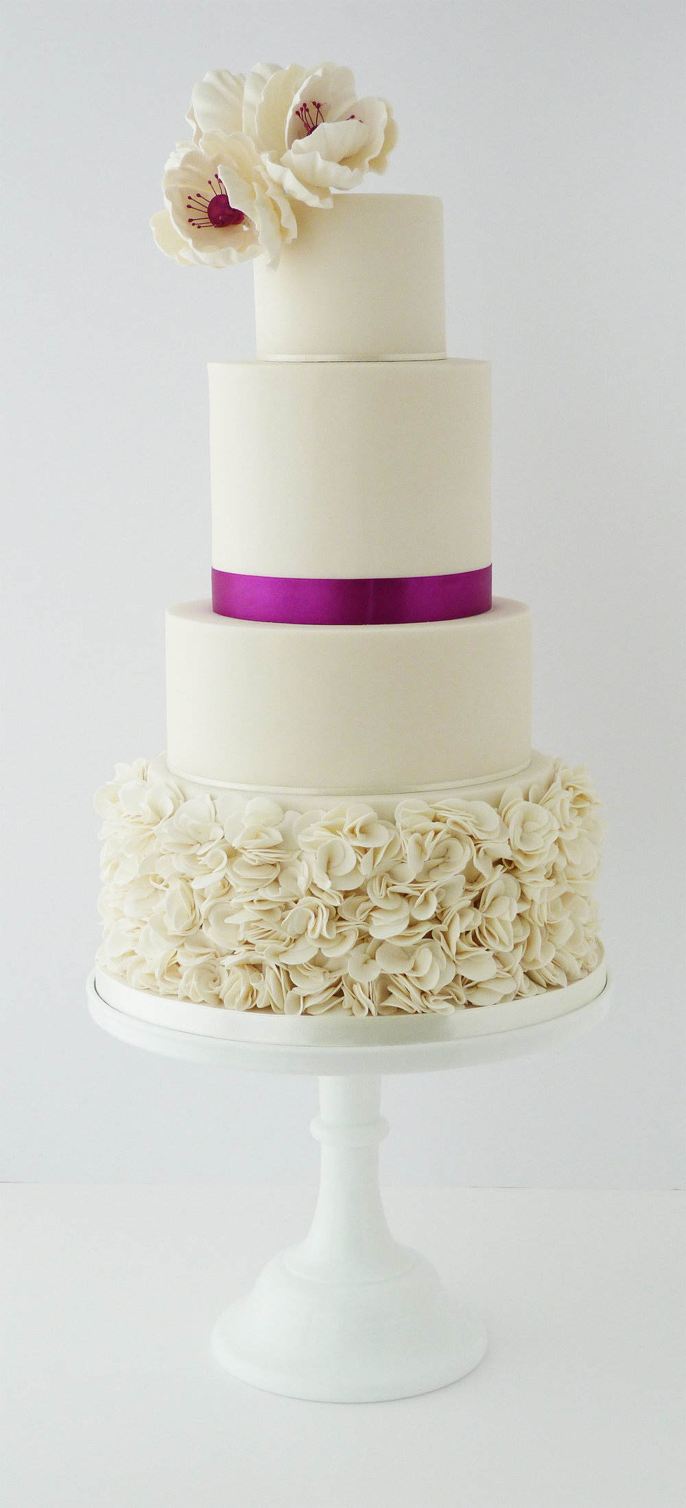 Stephanie and Mark ruffle wedding cake.jpg