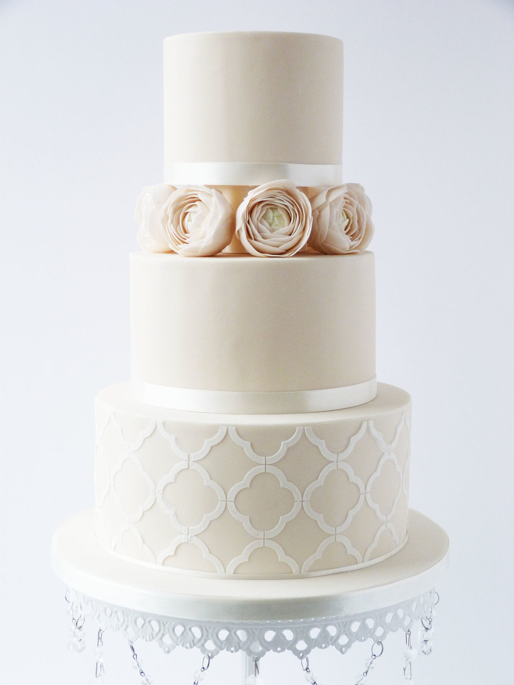 Stenciled Ivory wedding cake.jpg