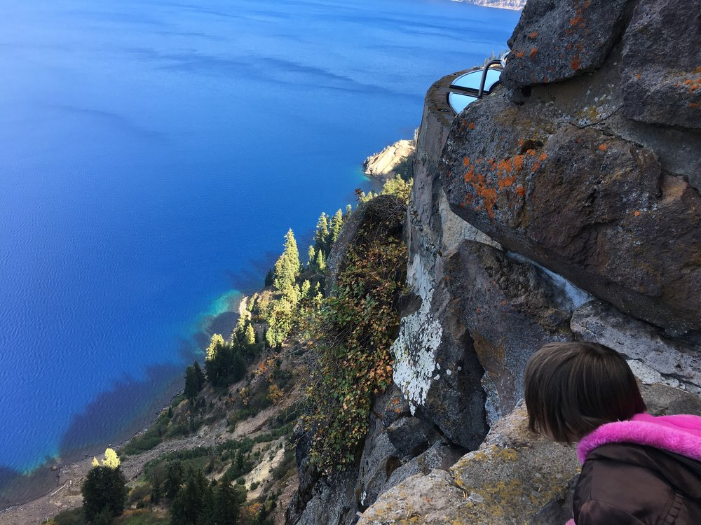 Here's Hailey at the stunning Crater Lake!!!