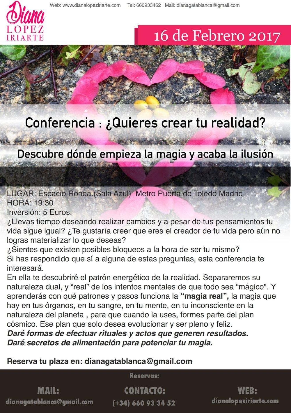 Conferencia ¿Quieres crear tu realidad?