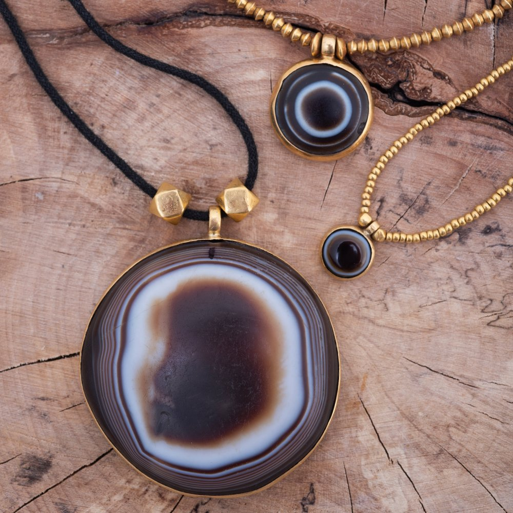 Banded Agate Eye Bead Necklace. These special protective beads come in many sizes,  please get in touch  for current stock and prices.