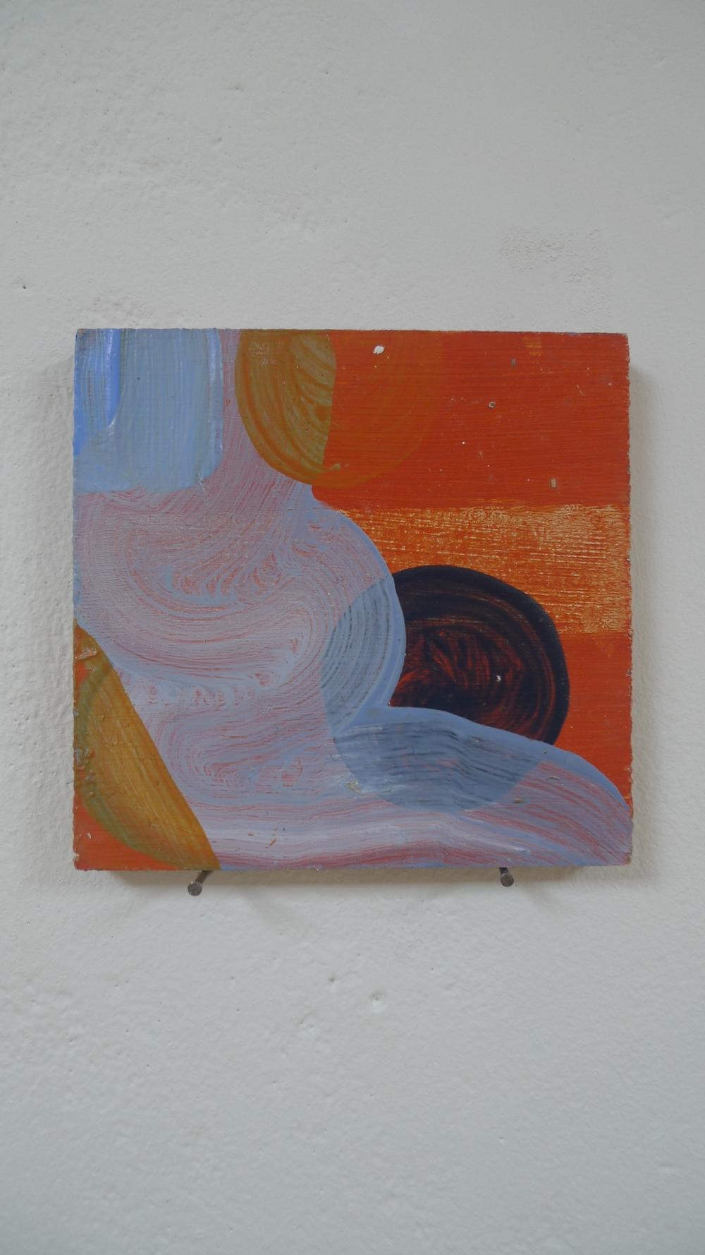 Blue and Rusty Orange (study), 2014