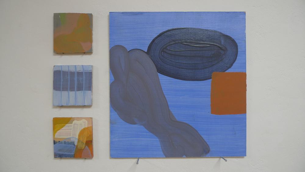 Blue and Rusty Orange, 2014