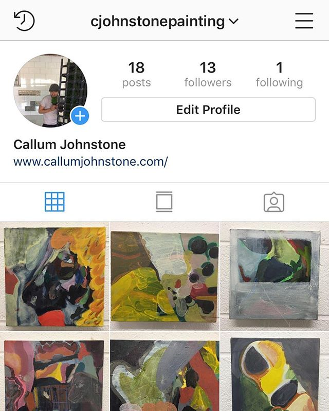 Go follow my PAINTING Instagram @cjohnstonepainting. I am trying to juggle making both sculptures and paintings at the moment, so I made somewhere I could upload them all! Checkkk ittttt outttt
