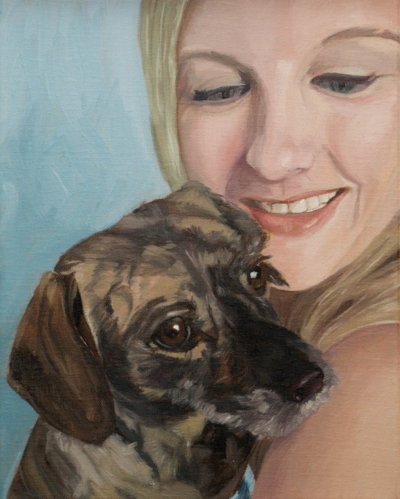 "Stacy & Olivia - 8x10""(20x25cm) Oil on linen"