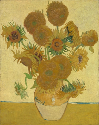 Sunflowers, by Vincent Van Gogh, 1888 - Shared from The National Gallery (London) under the terms of a Creative Commons license