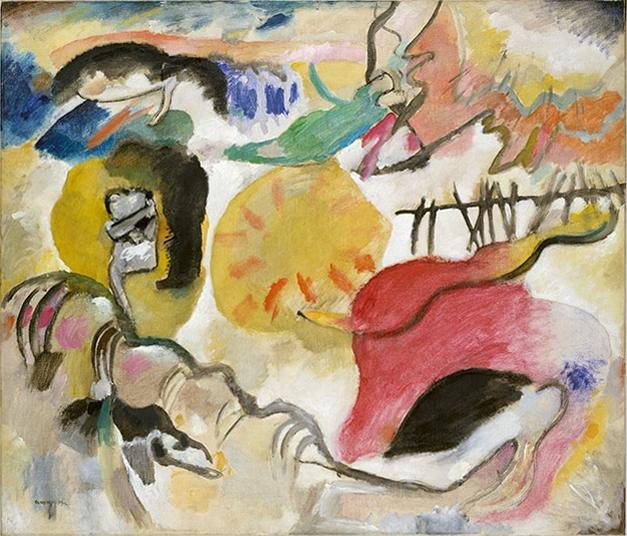 Wassily Kandinsky,Improvisation 27 (Garden of Love II), 1912 (http://www.metmuseum.org/toah/works-of-art/49.70.1/)