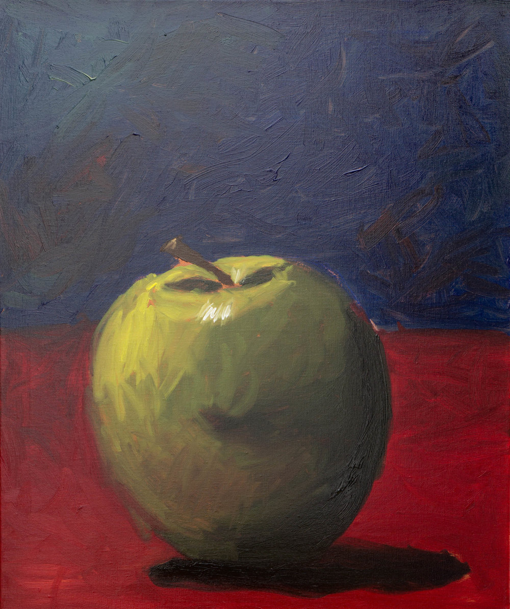 """Green apple"" Oil on 20x24""(51x61cm) linen canvas"