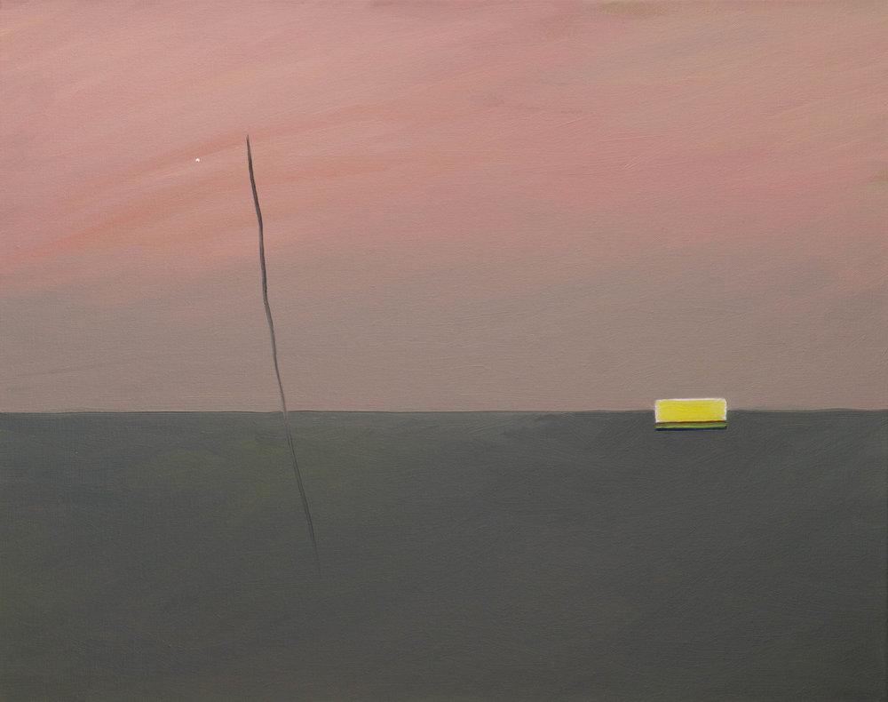 """""""Radio waves"""" oil on linen, 16x20""""(41x51cm) © 2016 Tim Gier"""