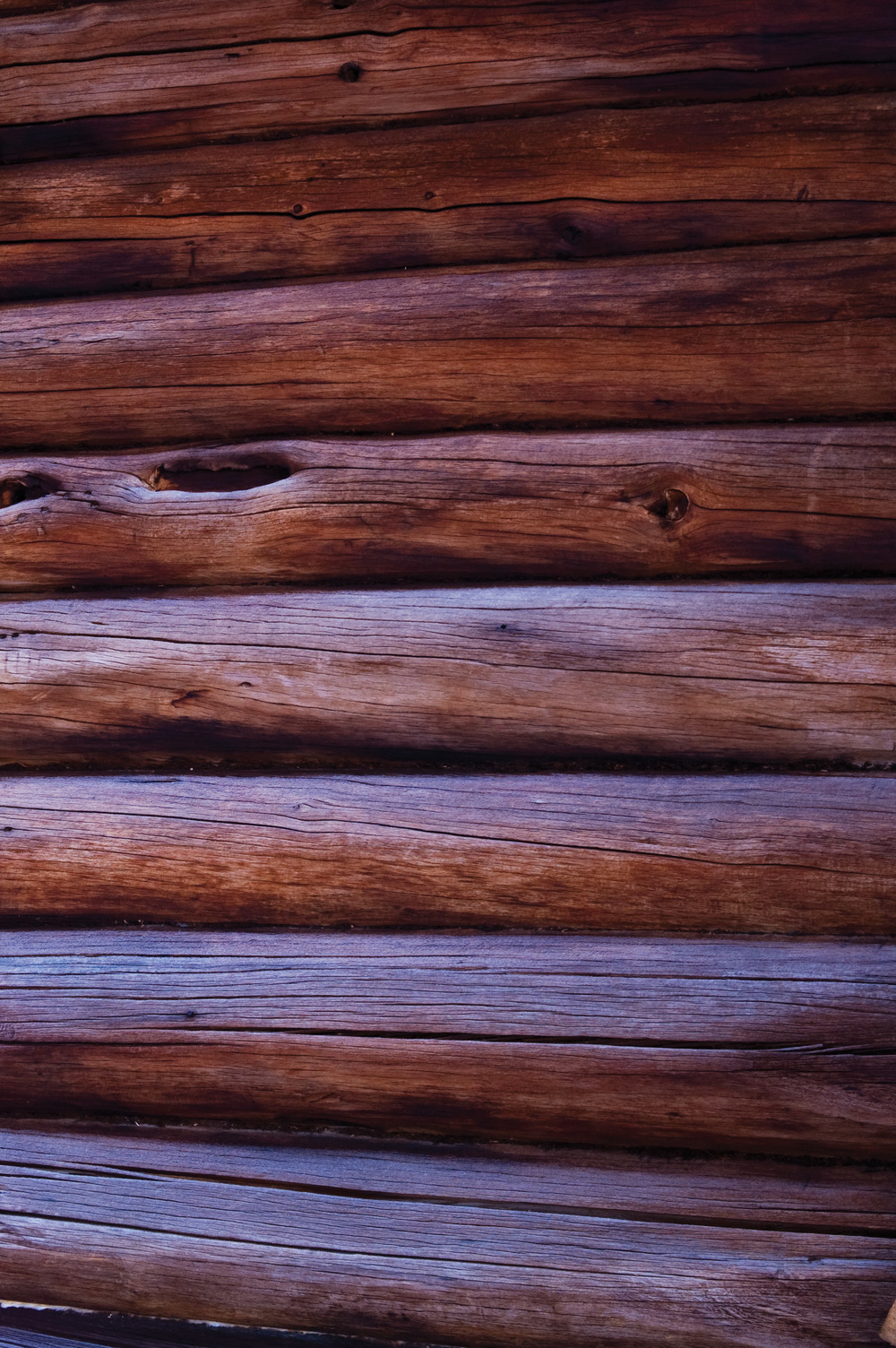 Tjæreimpregnert tømmervegg. Foto: Lars Sandved Dalen, NIBIO