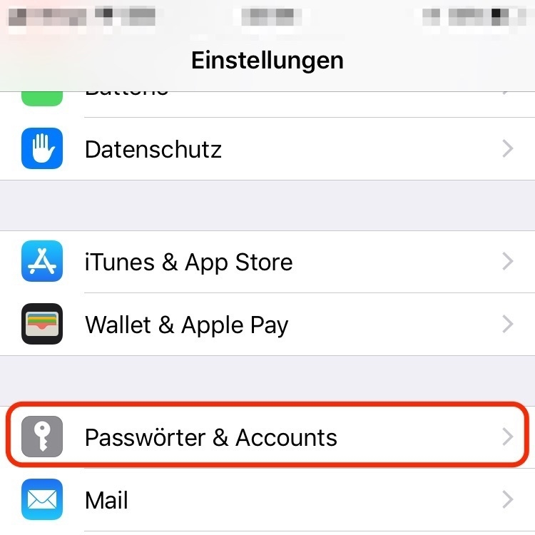 "2. ""Account & Passwörter"""