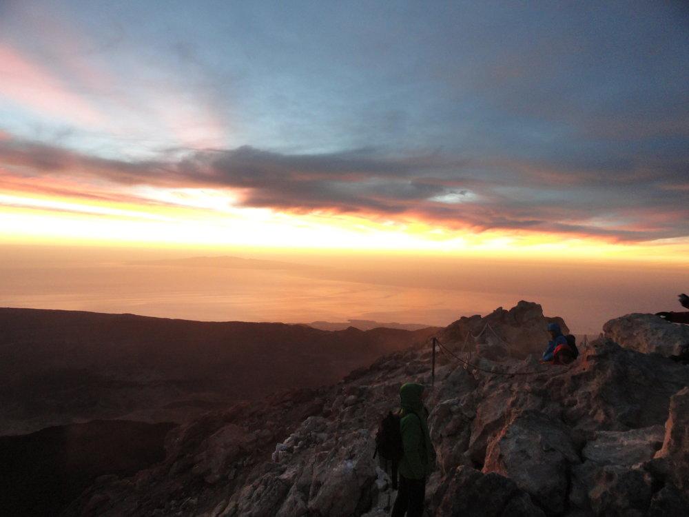 Zonsopgang op El Teide