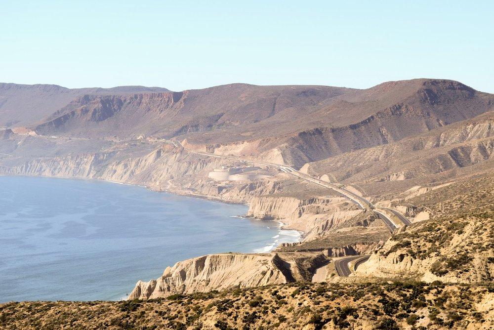 View from el Mirador at Cuatro Cuatros, Ensenada, Mexico