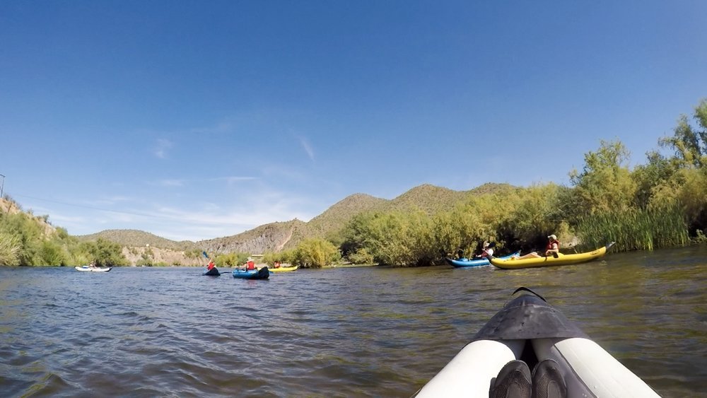 Salt River Kayaking in Arizona