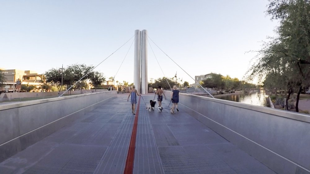 Scottsdale, Arizona | Photo by Erika Beach WLPW | Soleri Bridge by Paolo Soleri