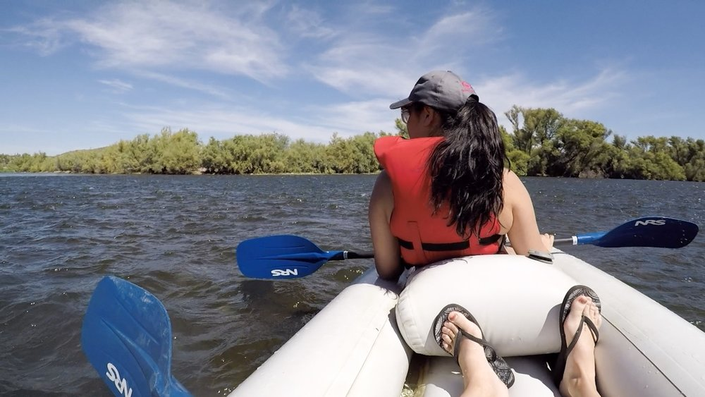 Kayaking the Salt River in Arizona
