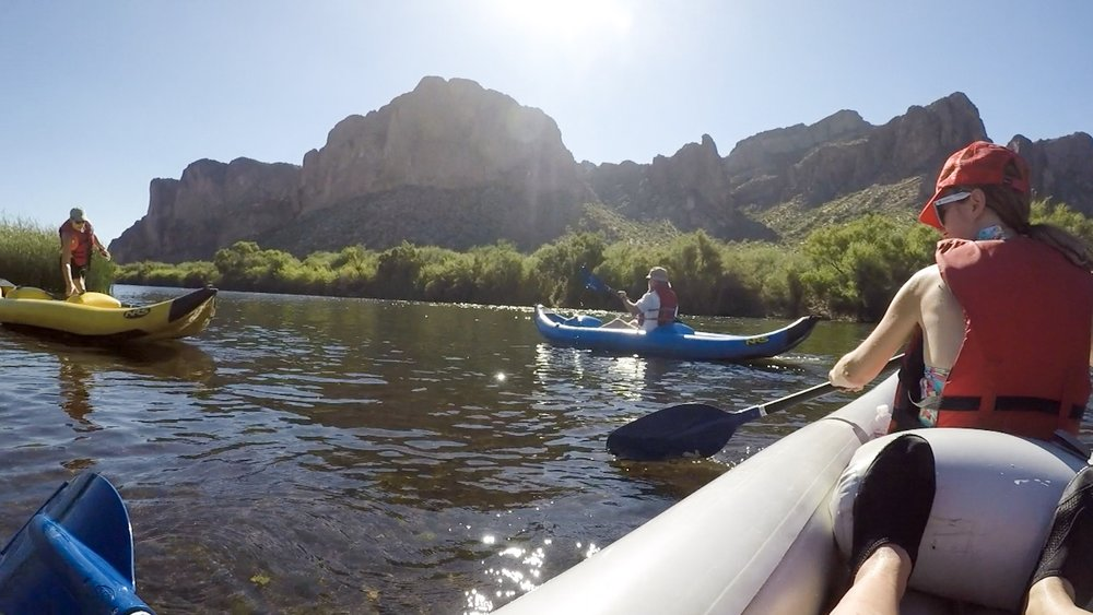 Kayaking the Lower Salt River in Arizona