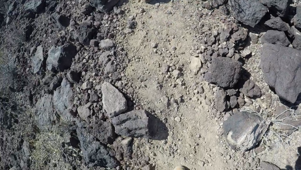 Accumulated Lava Rock