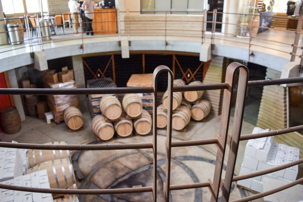 View of the first floor from the second level | Alximia Winery | Photo by Erika Beach