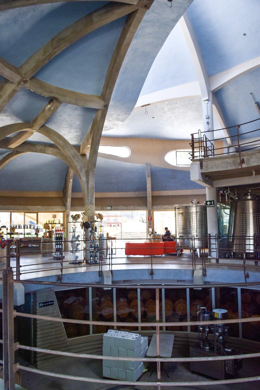 Second floor | Alximia Winery | Photo by Erika Beach
