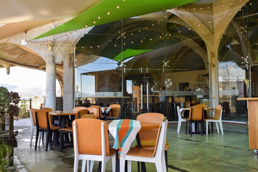 Restaurant area | Alximia Winery | Photo by Erika Beach