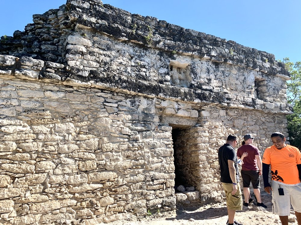 Temple on top of the Nohoch Mul Ruin in Coba