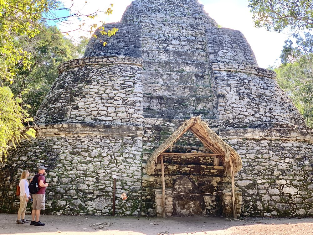 According to documentation, it is believed that this is the observatory of the Mayan community of Coba